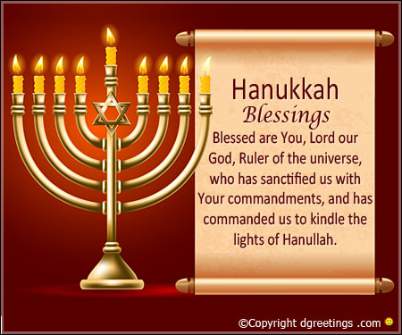 hanukkah blessings in english