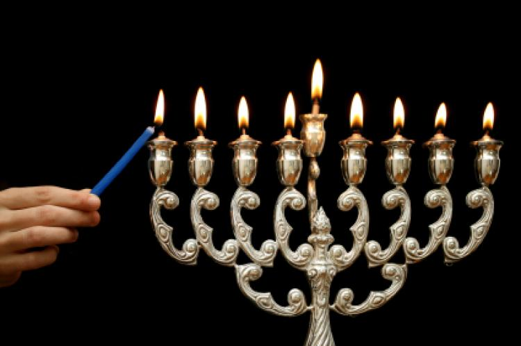 hanukkah candle lighting order