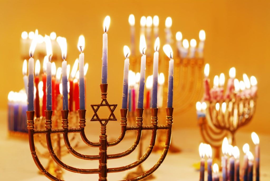 Chanukkah candle blessings
